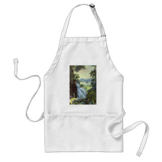 Vintage Love and Romance, Romantic Tropical View Standard Apron