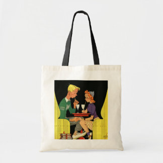 Vintage Love and Romance, Teens at the Soda Shop Bags