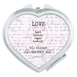 Vintage Love Bible Verse Mirrors For Makeup