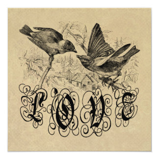 Vintage Love Birds Apparel and Gifts Card