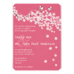 Vintage Love Birds Pink Cherry Blossom Weddings Personalised Invite