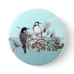 Vintage Love Birds Wedding Invitation buttons