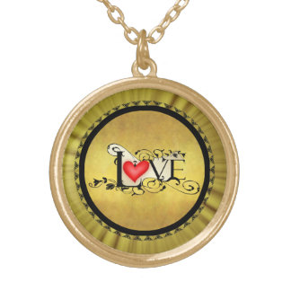 Vintage love gold romantic necklace