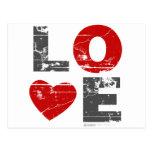 Vintage Love Heart Valentines Day urban romantic Post Card