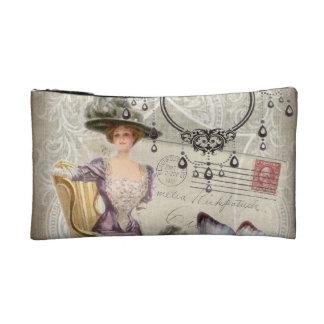 vintage love letter Vintage Paris Lady Fashion Cosmetic Bags