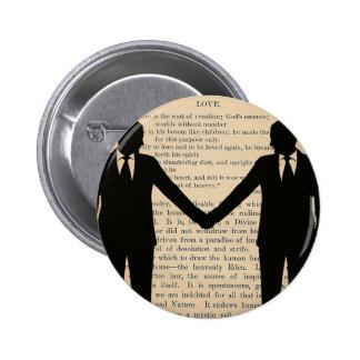 Vintage Love & Marriage Gay Wedding Longfellow 6 Cm Round Badge