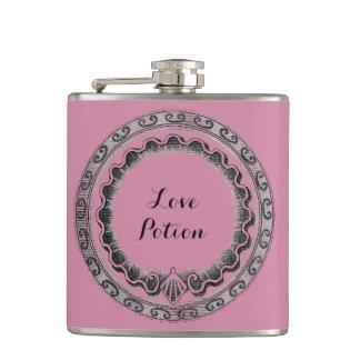 Vintage Love Potion Hip Flasks