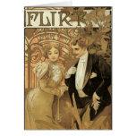 Vintage Love Romance, Art Nouveau, Alphonse Mucha Card