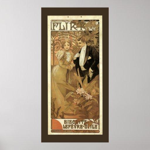 Vintage Love Romance, Art Nouveau, Alphonse Mucha Print