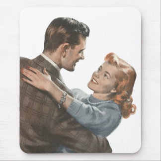 Vintage Love Romance Newlyweds Shall We Dance? Mouse Pad