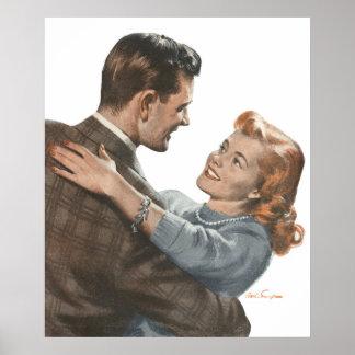Vintage Love Romance Newlyweds Shall We Dance Poster