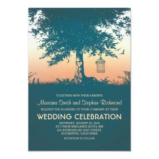 Vintage Love Tree Rustic Wedding Invites