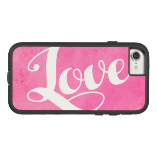 Vintage love typography Case-Mate tough extreme iPhone 8/7 case