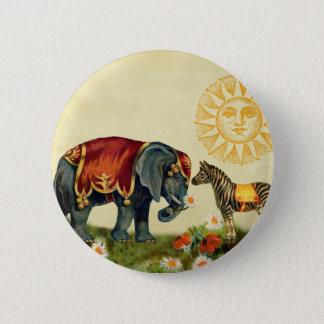 Vintage Love Valentine Collage 6 Cm Round Badge