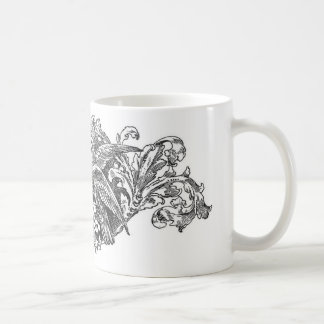 vintage lovebirds design typography coffee mug