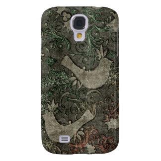 Vintage LoveBirds Embossed Print Case HTC Vivid Galaxy S4 Case