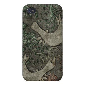 Vintage LoveBirds Embossed Print SpeckCase iPhone4 Cover For iPhone 4
