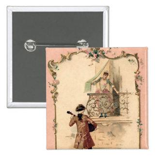 Vintage Lovers Illustration Buttons