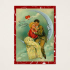 Vintage Lovers Moon Valentine Love Notes Business Card
