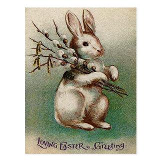 Vintage Loving Easter Greeting Postcard