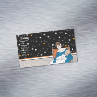Vintage Loving Mother Baby Stars Mother's Day Magnetic Business Cards