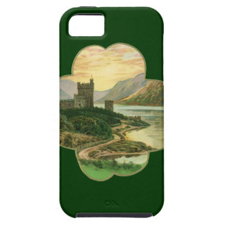 Vintage Lucky Gold Shamrock with an Irish Castle iPhone 5 Case