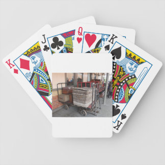 Vintage luggage and wicker basket - Range Bicycle Playing Cards