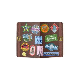 Vintage Luggage World Travel Suitcase Sticker Name