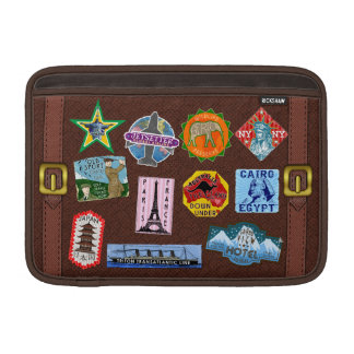 Vintage Luggage World Travel Suitcase Stickers MacBook Sleeve