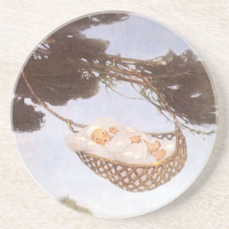 Vintage Lullaby, Rock Bye Baby Jesse Willcox Smith Drink Coaster