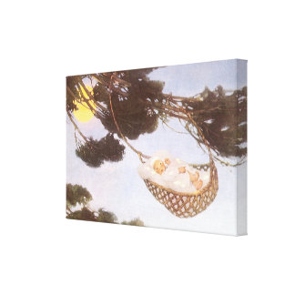 Vintage Lullaby, Rock Bye Baby Jesse Willcox Smith Gallery Wrapped Canvas