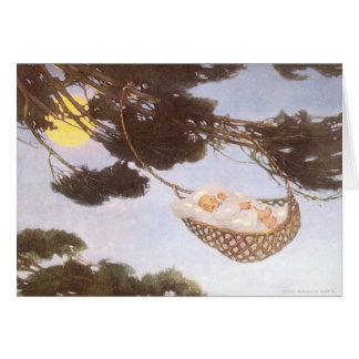 Vintage Lullaby, Rock Bye Baby Jesse Willcox Smith Greeting Card