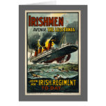 Vintage Lusitania Poster  (Irish Recruiting) Greeting Card