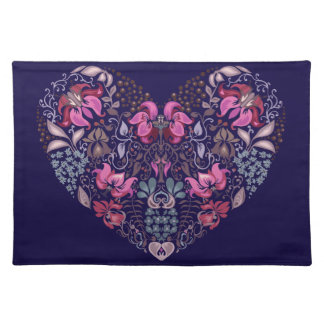 Vintage luxury design. Heart stylish pattern Placemat