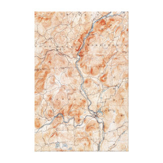 Vintage Luzerne New York Topographical Map Canvas Print