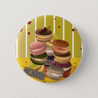 Vintage macaroons 6 cm round badge