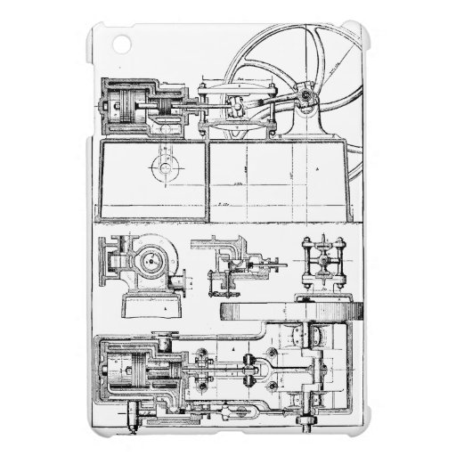Vintage Machine iPad Mini Cases