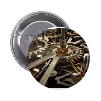 VINTAGE Machinery Rotor Gear 6 Cm Round Badge
