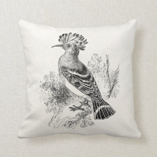 Vintage Madagascar Hoopoe Bird Personalized Birds Throw Pillow