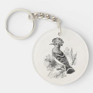 Vintage Madagascar Hoopoe Bird Personalized Birds Keychain