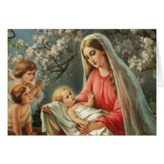 Vintage Madonna & Child Greeting Card