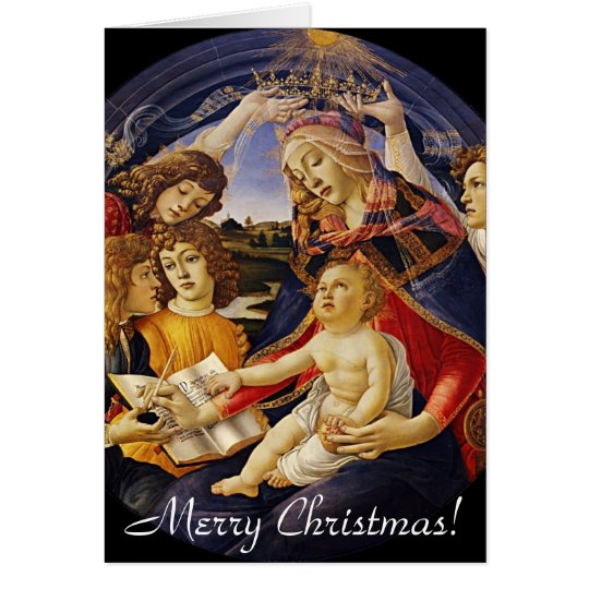 Vintage Madonna Christmas Greeting Card