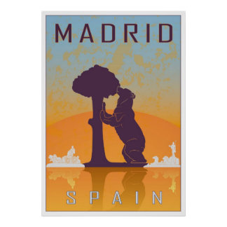 Vintage Madrid poster