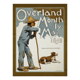 Vintage Magazine Cover Farmer and Dog Poster