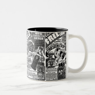 Vintage Magic Kitsch Lucky Mojo Ads Two-Tone Coffee Mug