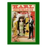 Vintage Magic Poster Karl Necromancer 1910 Postcard