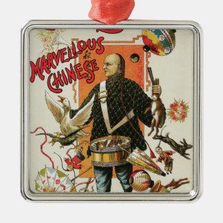 Vintage Magic Poster, Magician Chung Ling Soo Christmas Ornament