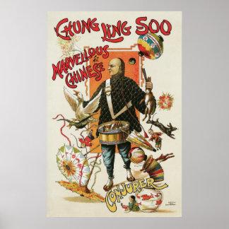 Vintage Magic Poster, Magician Chung Ling Soo Poster