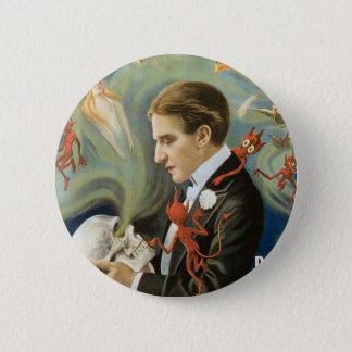 Vintage Magic Poster, Thurston, The Great Magician 6 Cm Round Badge