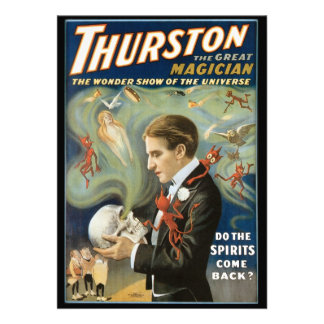 Vintage Magic Poster Thurston The Great Magician Custom Announcements